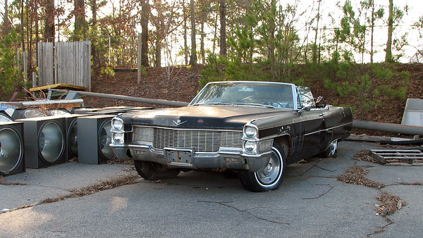 February 5, 2012:  A 1965 Cadillac convertible in Athens, Ga .  .  .