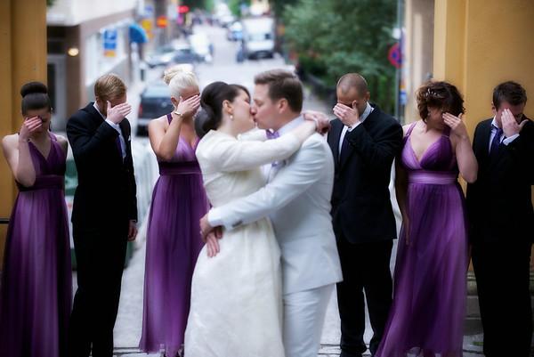 På Dina och Magnus bröllop 2014