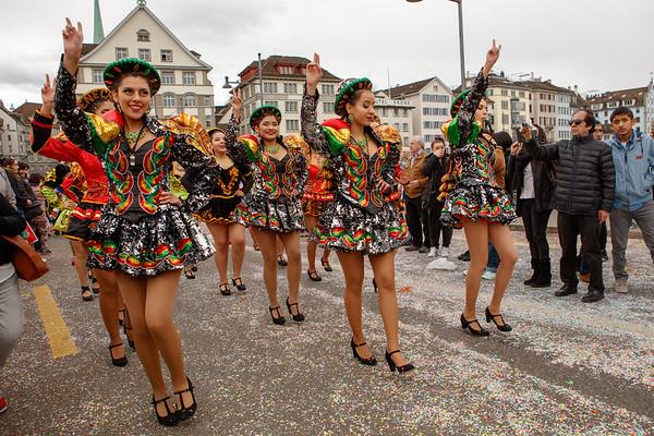 Zürich Carnival parade 2017