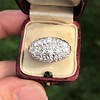 1.64ctw Vintage Princess Style Oval Cluster Ring 17