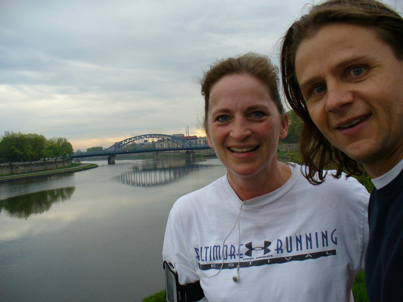 On our jog!