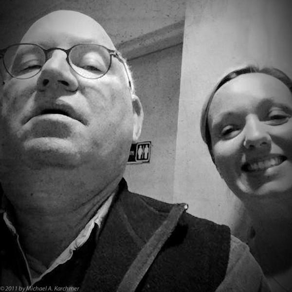 Self-Portrait (with Lisa the Nurse) (Hyannis, MA, 2012) [Michael A. Karchmer]