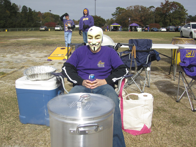 11/5/2011 ECU vs Southern Miss - Chuck keeping an eye on the turkey being fried.