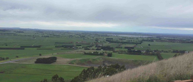 view of green plains