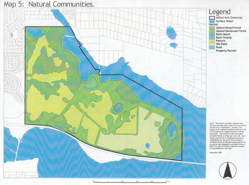 J. R. Alford September 2002 DRAFT Management Plan Map 5: Natural Communities