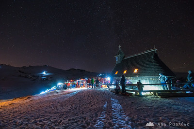 Midnight mass on Velika planina - Dec 24, 2017