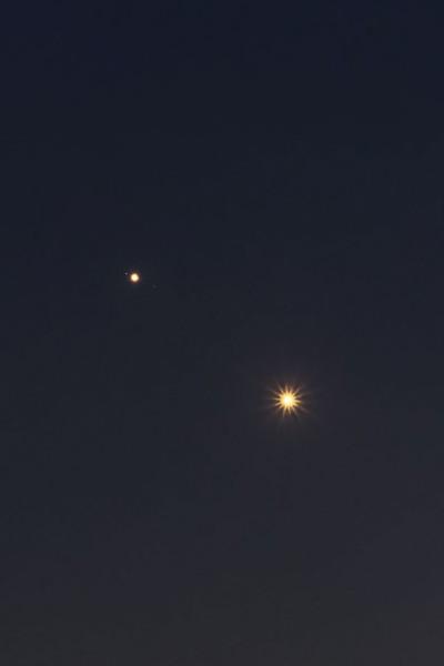 Jupiter a Venuše 29.6.2015