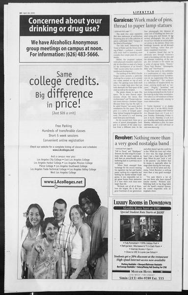 Daily Trojan, Vol. 154, No. 59, April 18, 2005