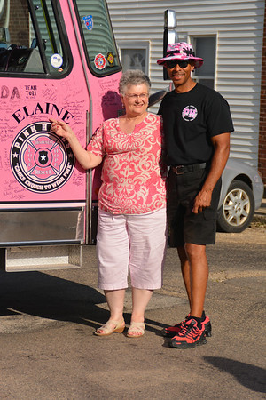 Pink Heals Pink fire trucks come to La Moille, July 8, 2014!