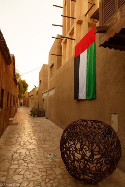 Outside the XVA Art Hotel in Old Dubai