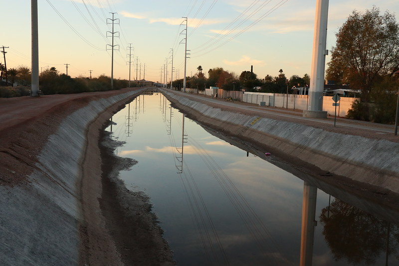 Followed the canal to Tempe every day.