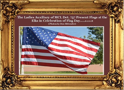 6-10-18 Det. 757 Ladies Auxiliary Present Colors at the Elks in Honor of Flag Day