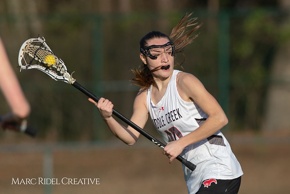 Broughton Lady Caps lacrosse at Middle Creek. February 26, 2019. D4S_1660