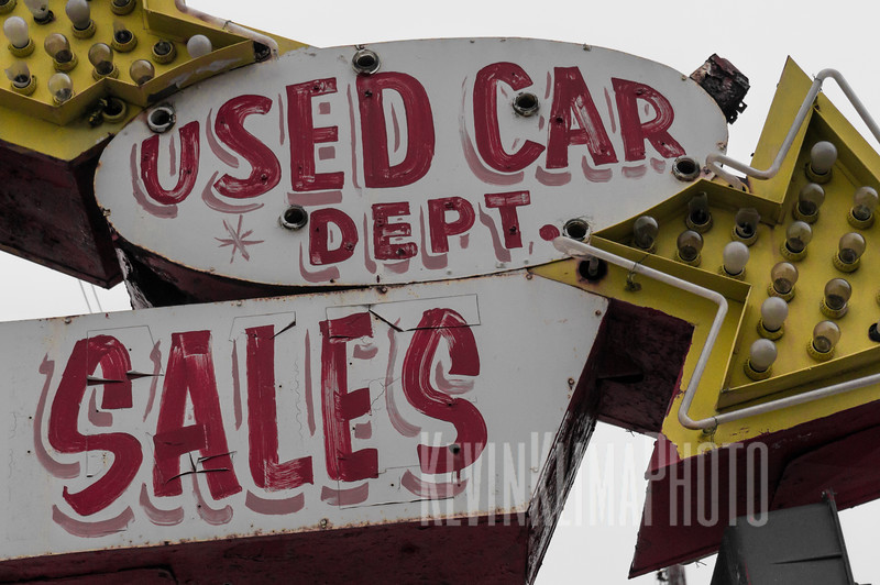 Used Car Department - Auto Sign