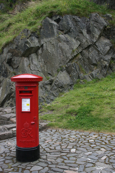 Royal Mail box at the Edinburgh Castle.
