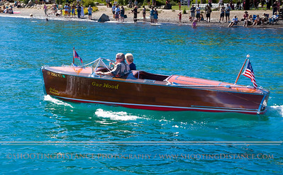 The sleek Santana  glides onto Lake Tahoe at the 2011 Concours D' Elegance