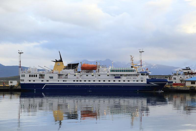 Ocean Nova, another Southern Ocean & Antarctic destination ship in port in Ushuaia Jan 2013