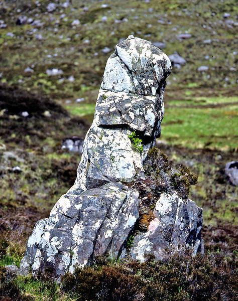 Clach nan Con Fionn, in the Coire Fionnaraich.  06/06/85  ~ Where the legendary Fionn mac Cumhaill  tethered his hounds while hunting.