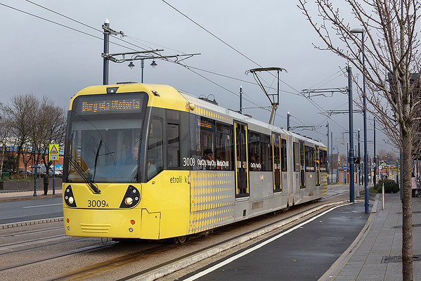 9th January 2014: Manchester Metrolink-Ashton and Oldham