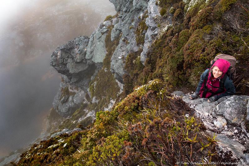Lake Sirona - it looks steep