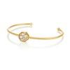 .95ctw Octagon Diamond Mosaic Bangle, Yellow Gold 1