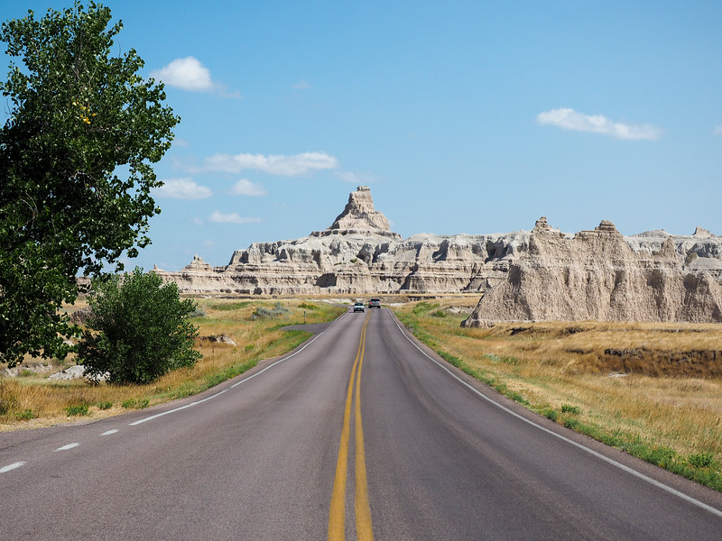 Driving in Badlands National Park