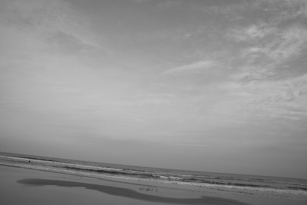 Beach Black and White
