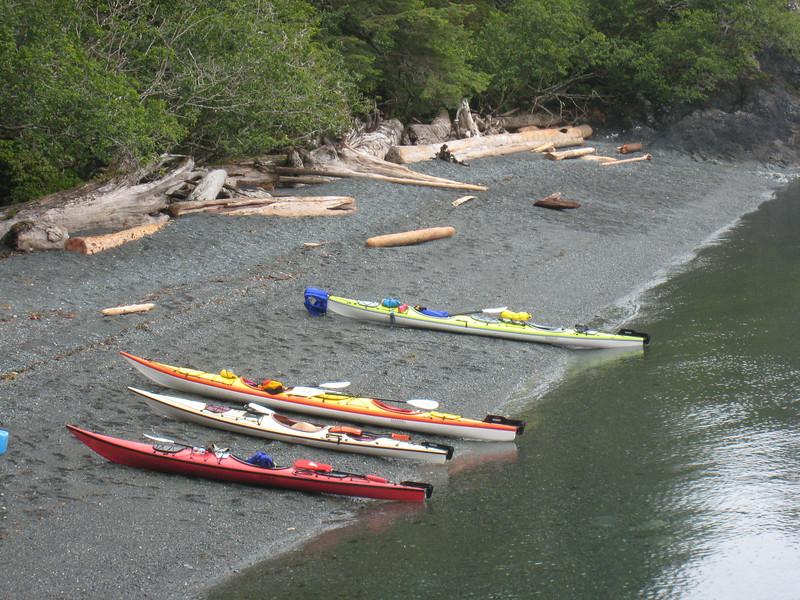 A nice fleet of kayaks