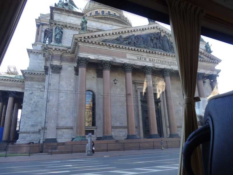 csw4St. Isaac's Cathedral through the van window, St. Petersburg, Russia