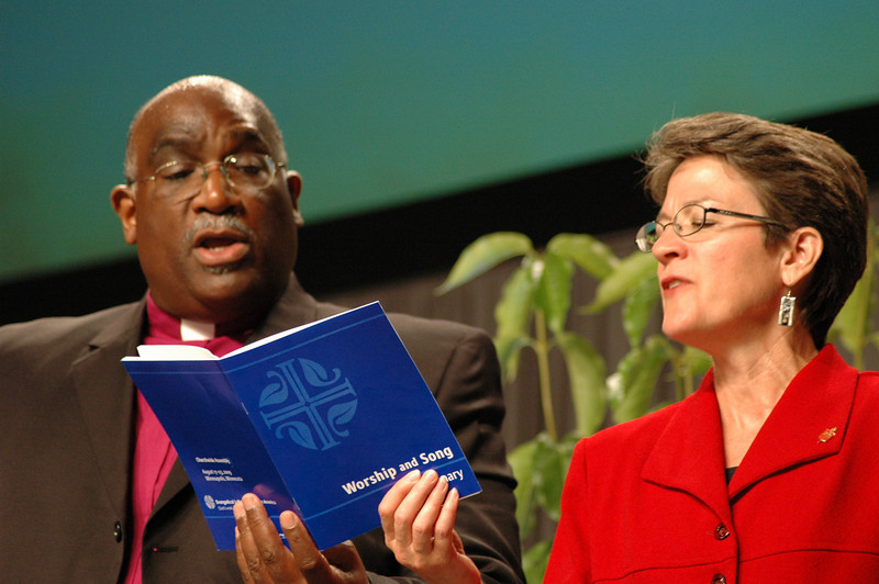 dialogue), Bishop Gregory Palmer (President, Council of Bishops, United Methodist Church), and Bishop Sallya Dyck (United Methodist Church's North Central Jurisdiction, Episcopal are of Minnesota).