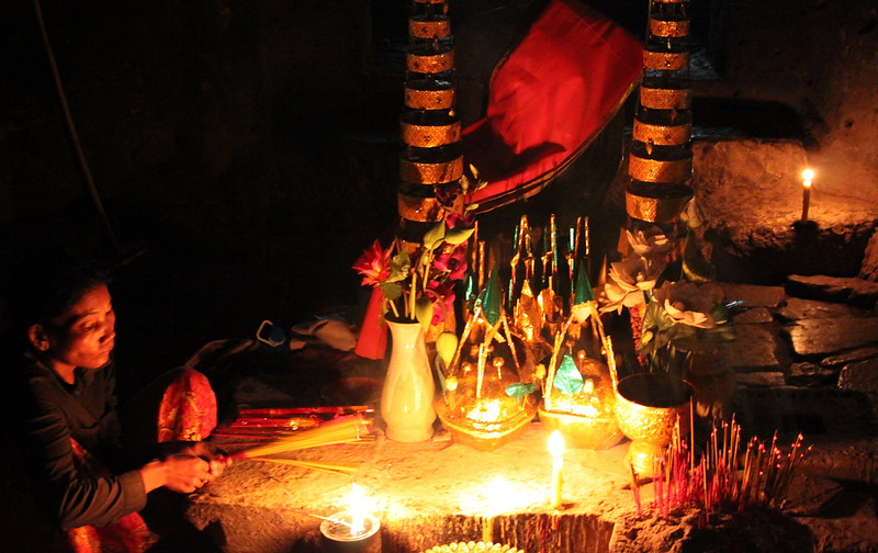 A shrine in the temple