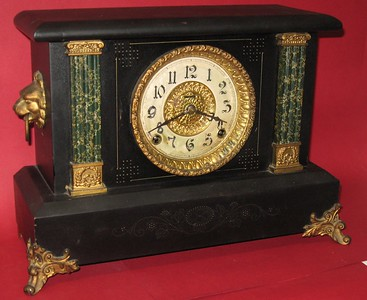 Ingraham Black Mantel Clock Made October 1906
