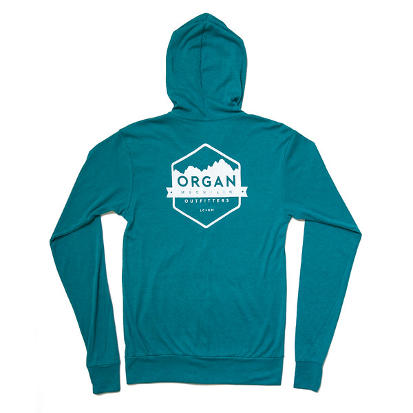 Organ Mountain Outfitters - Outdoor Apparel - Outerwear - Classic Lightweight Zip Up Hoodie - Teal Back.jpg