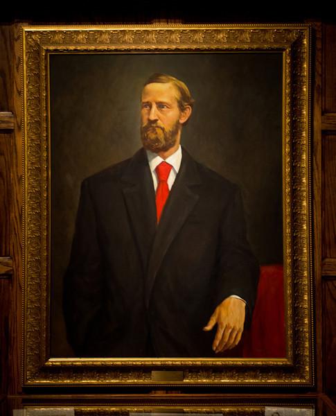 William Albert Jones president portrait in Heritage Lounge