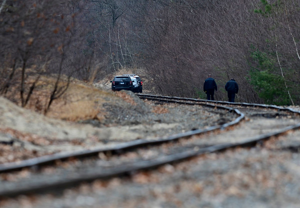 3/17/2020 Mike Orazzi | Staff Bristol police on scene after a person was discovered unresponsive in Rockwell Park along the railroad tracks in Bristol on Tuesday afternoon.