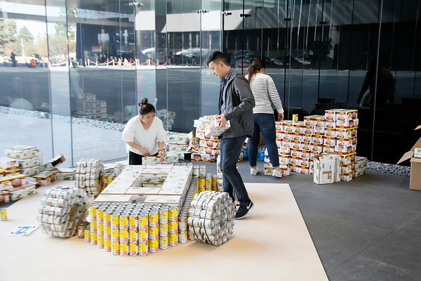 Canstruction Employee Building