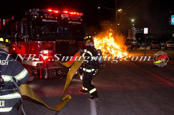 Wantagh F.D. Garbage Truck Fire I/F/O 3434 Sunrise Hwy 1-8-15