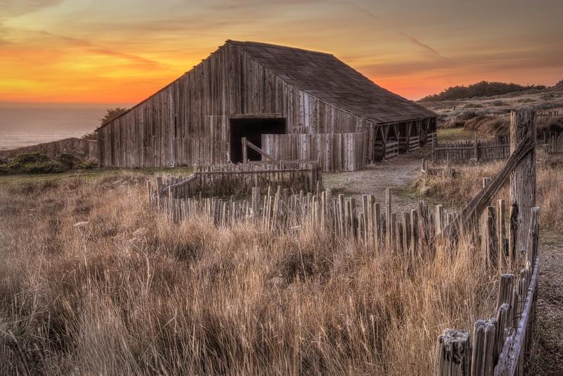 Sunset Barn, Sea Ranch, California