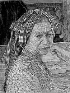 """""""Working Mom"""" (graphite) by Lewis Isaac Testa"""