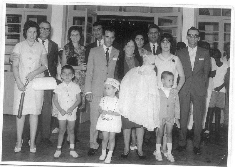 Cassanguidi em 1965 - Baptizado de Natalia Ribeiro