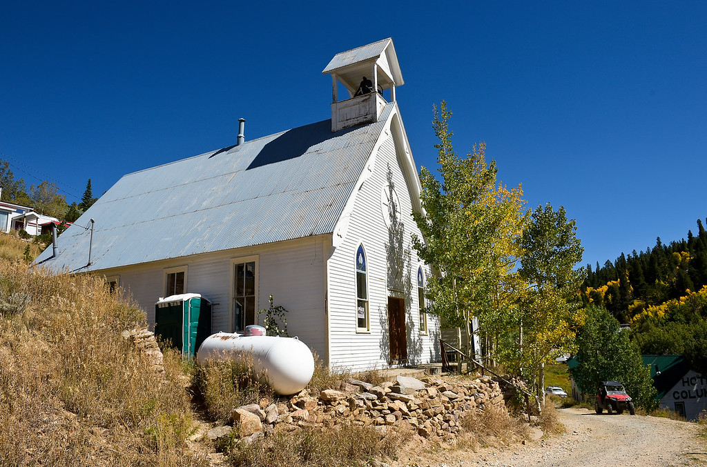 . WARD, CO - SEPTEMBER 13, 2018: Union Congregational Church of Ward Sept. 13. A groundbreaking will take place Sunday to herald a $50,000 renovation for the 122-year-old church, the same one whose belltower is featured in a painting by Georgia O\'Keefe.(Photo by Lewis Geyer/Staff Photographer)