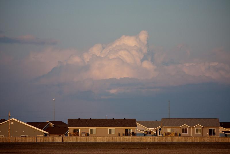 Clouds over a neighborhood