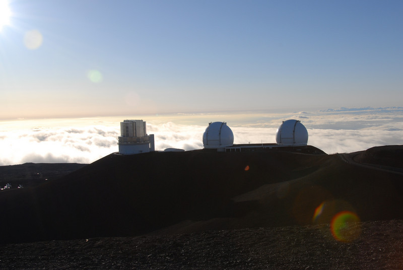 Keck telescopes in Mauna Kea, Hawaii
