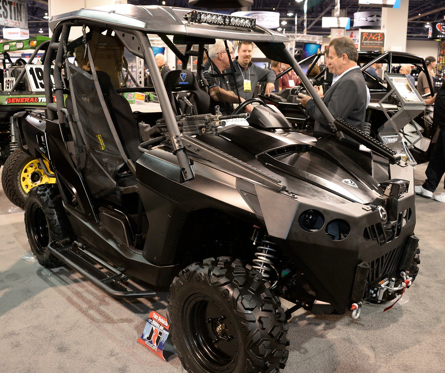 . Nov 6,2013 Las Vegas NV. USA. Some the many custom UTV\'s on display  during the second day of the 2013 SEMA auto show. Photo by Gene Blevins/LA Daily News