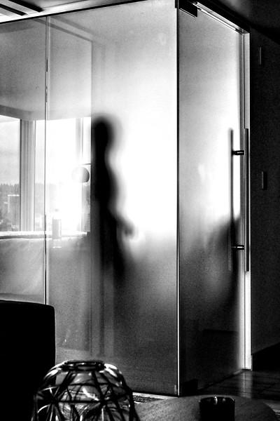 Spiritual Ecstasy Enterprise's Misti Cooper Spiritual Alchemist™ with Alien in the bathroom of the Eastlund Hotel in Portland