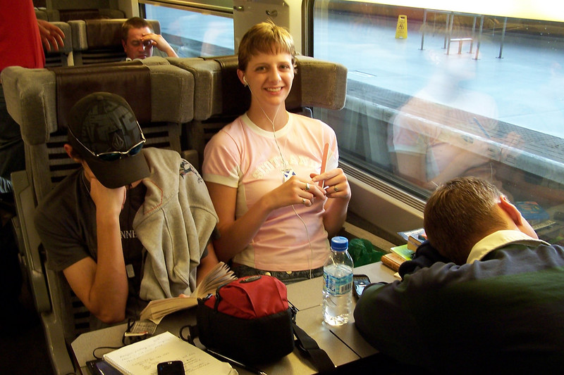 Going to France on the Eurostar on Dan's birthday.  Friday July 13th.  He was sick...