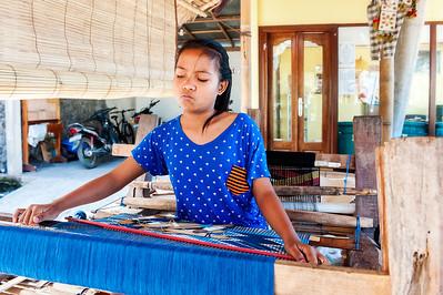 Traditional Textiles, Natural Dyes - Seraya, Bali - Indonesia