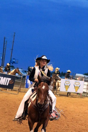 Sat Rodeo Royalty Run By's and Arena Clearing