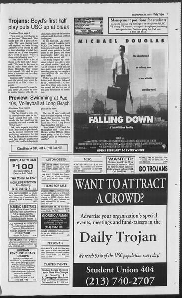 Daily Trojan, Vol. 119, No. 30, February 26, 1993