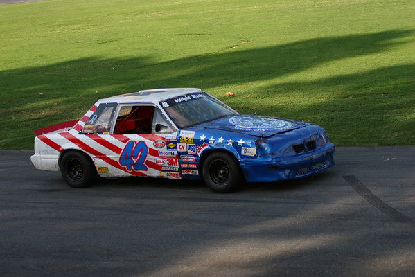 Bowman Gray Racing, June 28, 2008 - Savage Energy Drink Night; 60-lap Sportsman race; Chain Race, Green Beret Parachute Team
